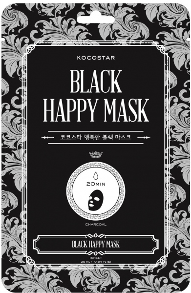 Mặt nạ hạnh phúc màu đen Kocostar