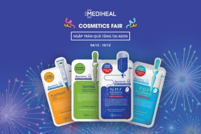 Ưu đãi ngập tràn tại Cosmetics Fair mừng Mediheal chính thức lên kệ tại hệ thống Aeon Mall
