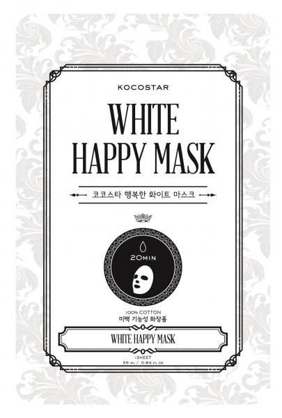 Mặt nạ hạnh phúc màu trắng Kocostar