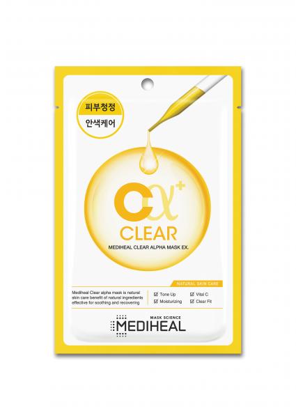 Mặt nạ Mediheal Clear Alpha giúp làm sạch, sáng mịn da