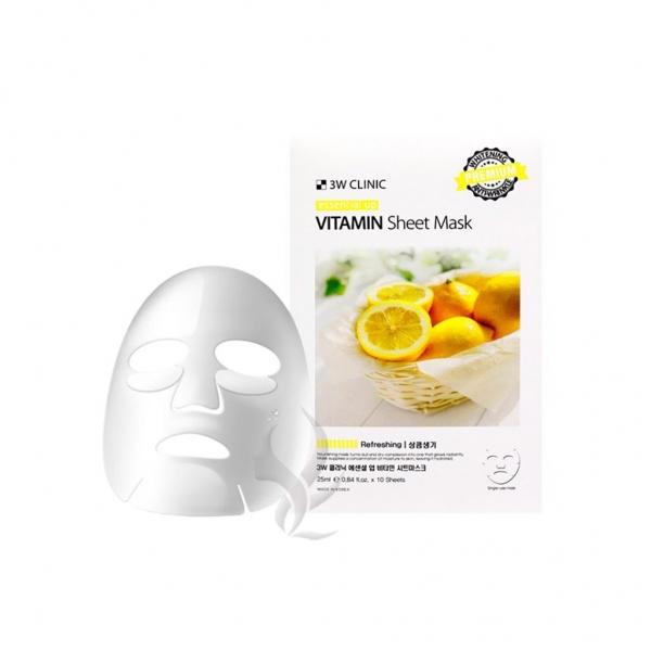 Mặt Nạ Vitamin Dưỡng Trắng Da 3W Clinic