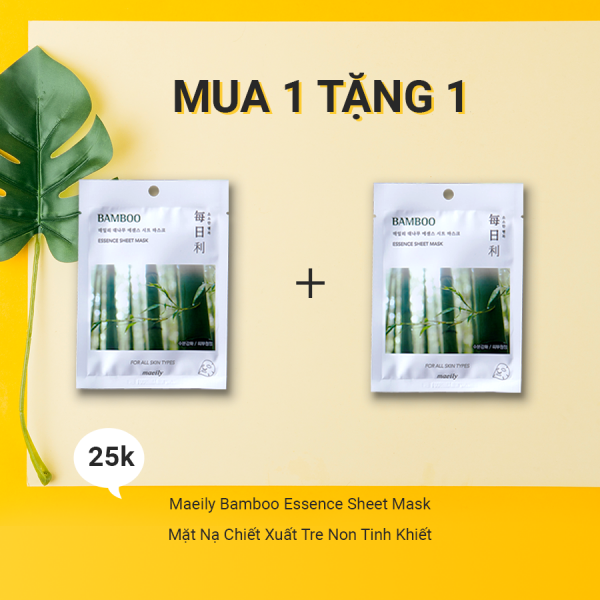 Mặt Nạ Chiết Xuất Tre Non Tinh Khiết