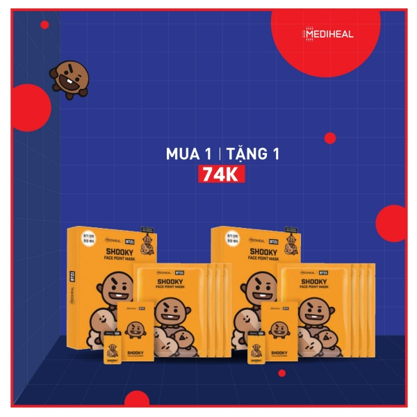 MEDIHEAL | BT21 SHOOKY Face Point Mask