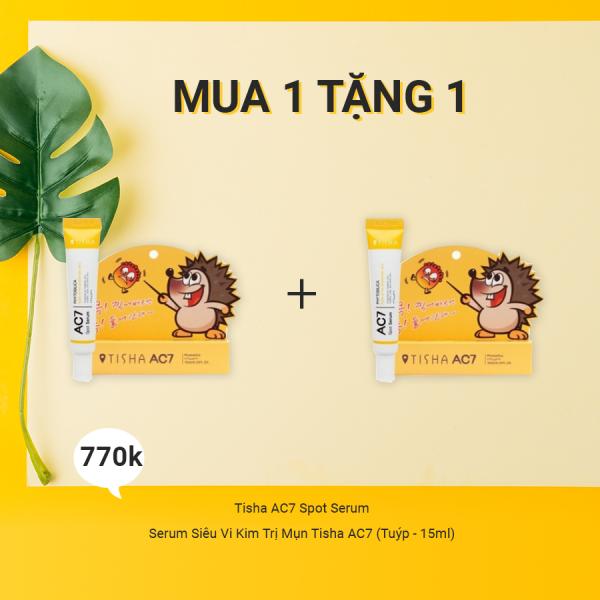 Serum Siêu Vi Kim Trị Mụn Tisha AC7 (Tuýp - 15ml)